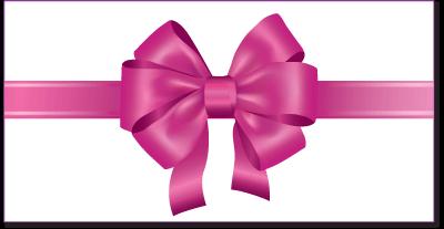 Geschenk-Gutschein Couvert mit rosa Schleife